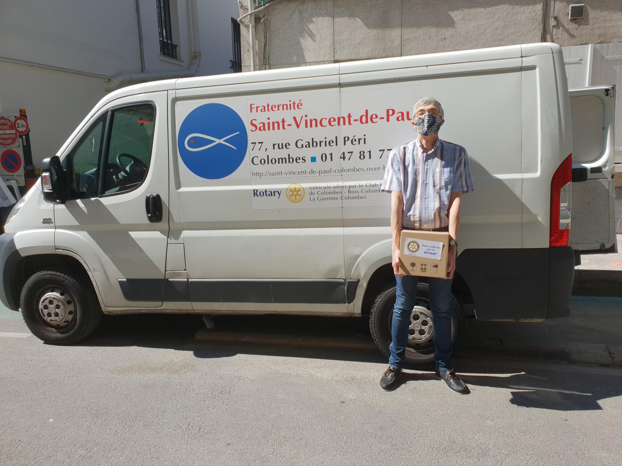 Photo camion epicerie solidaire